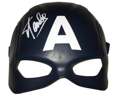 Marvel's Avengers -  Captain America Mask Signed by Stan Lee