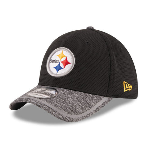 Pittsburgh Steelers New Era Black Training Camp 39THIRTY Flex Hat