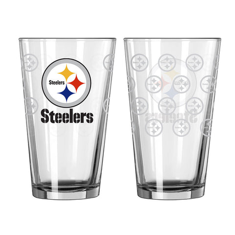 Steelers Satin Etched Pint Glass