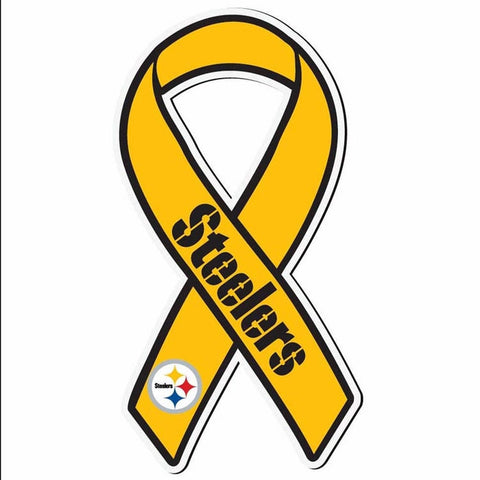 Steelers Magnet Ribbon Gold