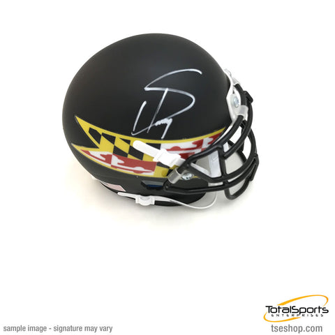 Stefon Diggs Signed University of Maryland Schutt Mini Helmet