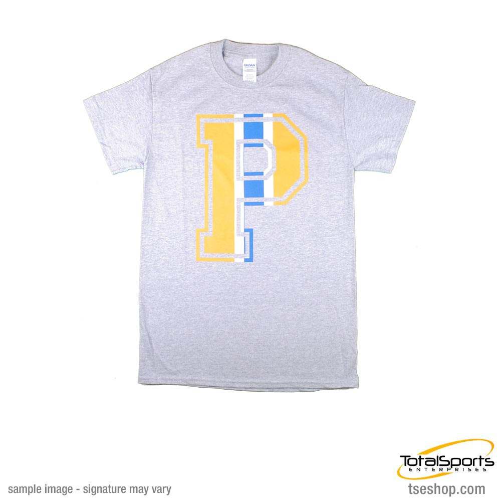 """P"" T-Shirt (Light Blue and Yellow)"