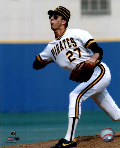 Kent Tekulve Throwing in White 8x10 - Unsigned