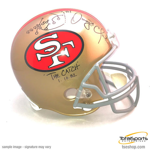Dwight Clark Signed 49ers Replica Helmet with