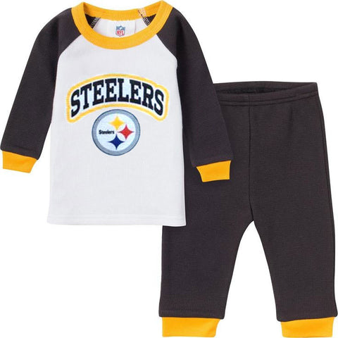 Steelers Baby Thermal Outfit (standard letters)