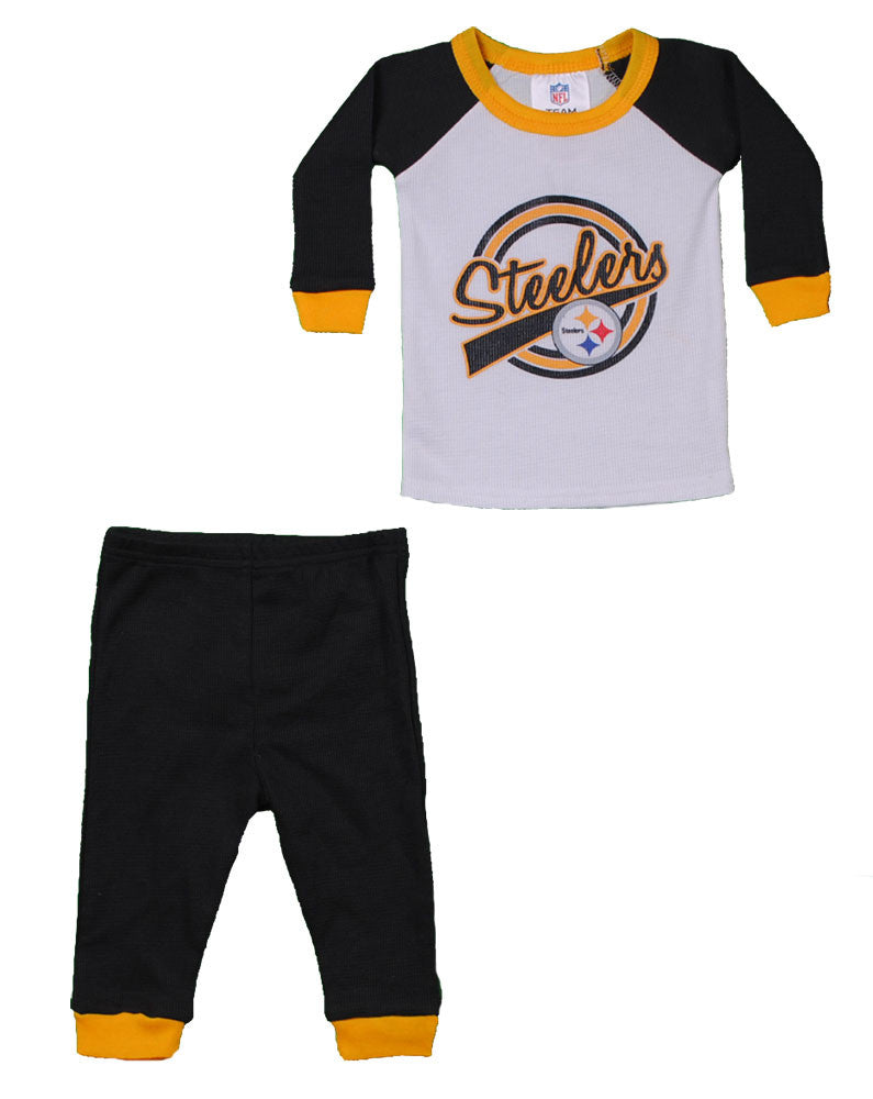 Steelers Baby Thermal Outfit (script letters)