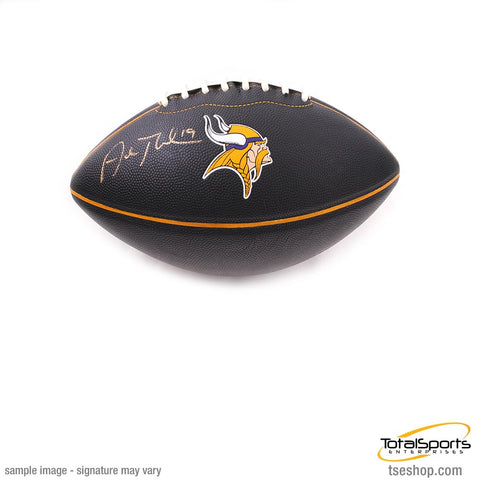 Adam Thielen Signed Minnesota Vikings Black Logo Football