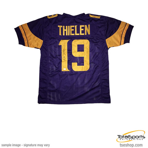 Adam Thielen Signed Custom Holiday Football Jersey