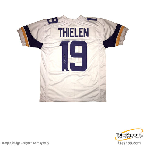 Adam Thielen Signed Custom White Football Jersey