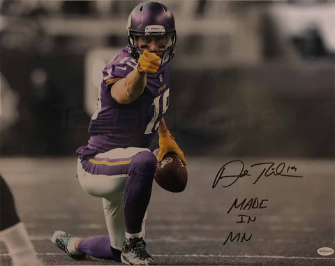 Adam Thielen Autographed Pointing with Made in MN 16x20 Photo