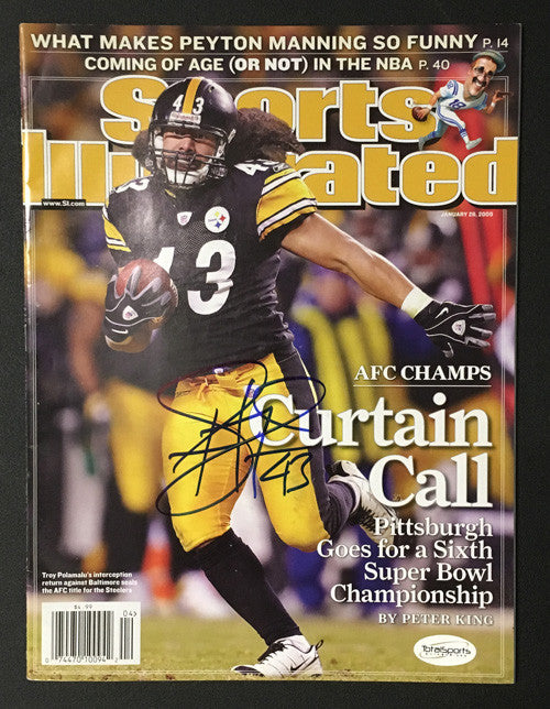 Troy Polamalu Autographed Sport Illustrated Magazine Curtain Call