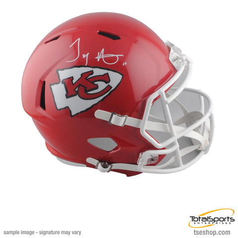 Tyreek Hill Signed Kansas City Chiefs Red FS Speed Helmet