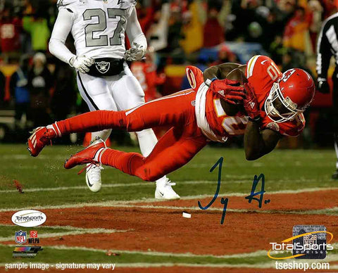 Tyreek Hill Signed Diving in Endzone 16x20 Photo