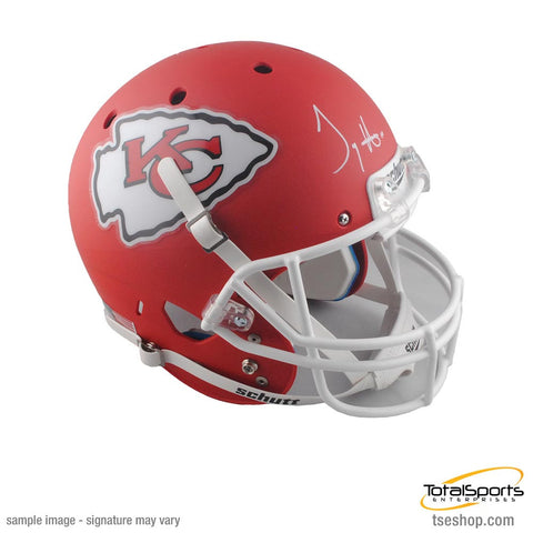 Tyreek Hill Signed Kansas City Chiefs Red Schutt Matte FS Helmet