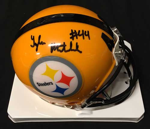 Tyler Matakevich Autographed Pittsburgh Steelers 75th Anniversary Mini Helmet
