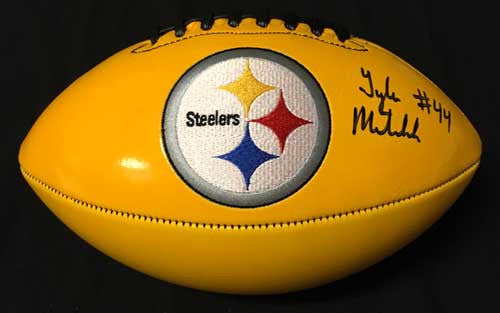 Tyler Matakevich Autographed Yellow Replica Football