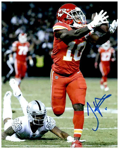 Tyreek Hill Signed Catch Vs. Raiders 8x10 Photo