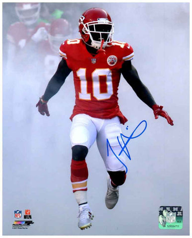 Tyreek Hill Signed Game Entrance SMOKE! 16x20 Photo