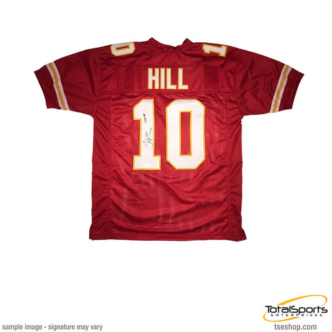 Tyreek Hill Signed Custom Red Jersey Inscribed