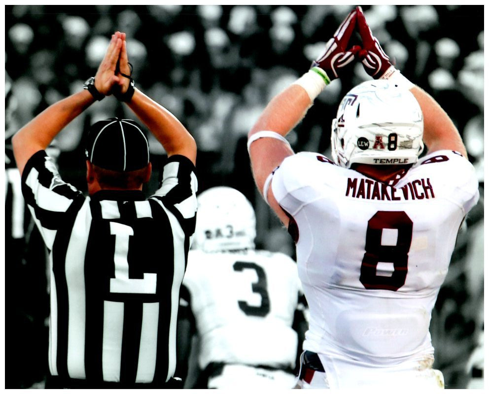 "Tyler Matakevich ""Safety"" (Temple) 8x10 Photo - Unsigned"