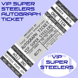 Image of AUTO-TICKET: VIP Super Steelers Ticket - Get ANY Item of YOURS Signed IN PERSON by Andy Russell, Donnie Shell, Jack Ham, Mike Wagner, and Rocky Bleier (Includes Priority Line Access - Only 100 VIP Tickets Available)