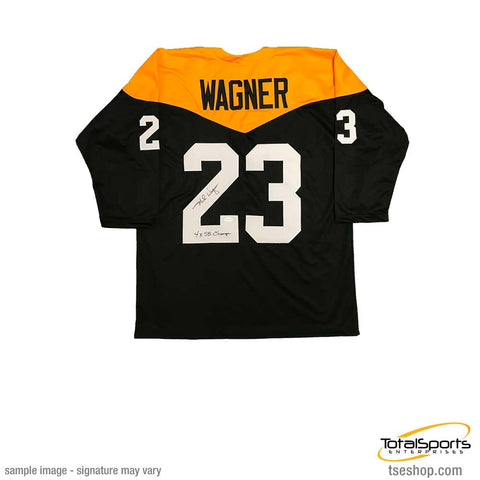 new styles 56096 ba60c Pittsburgh Steelers Mike Wagner Memorabilia tagged