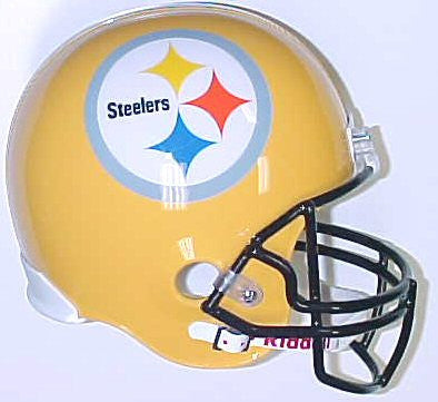 Riddell Steelers Yellow 75th Anniversary Replica Full Size Helmet