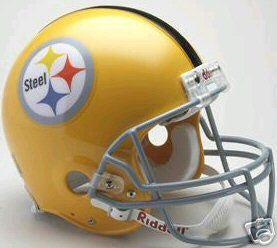 Riddell Steelers Yellow Throwback Authentic Full Size Helmet