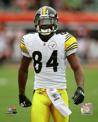 Antonio Brown White Jersey Posing 8x10 Photo - Unsigned