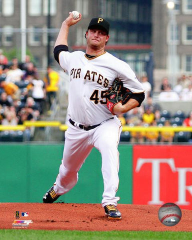 Gerrit Cole Pitching in White 8x10 - Unsigned
