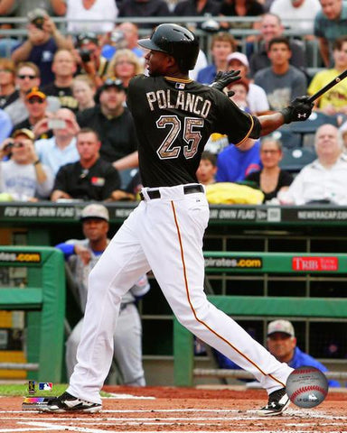 Gregory Polanco Swinging Bat in Black 8x10 Photo - Unsigned