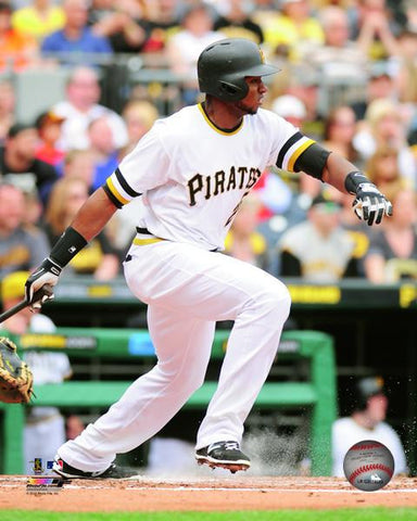Gregory Polanco End of Swing in White 8x10 - Unsigned