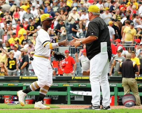 Pittsburgh Pirates Clint Hurdle and Andrew McCutchen  8x10 Photo - Unsigned