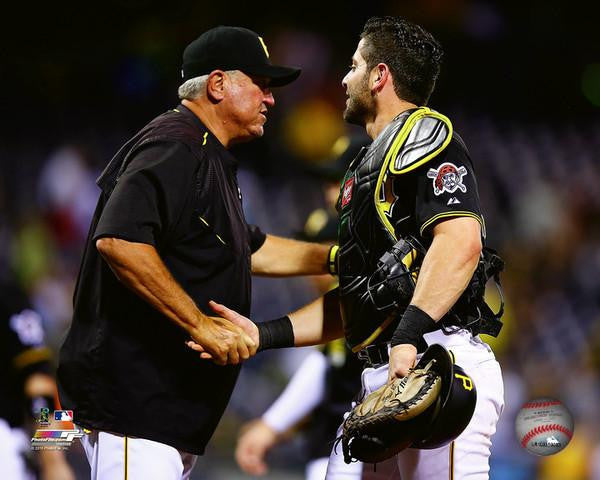 Pittsburgh Pirates Clint Hurdle and Francisco Cervelli 8x10 Photo Unsigned