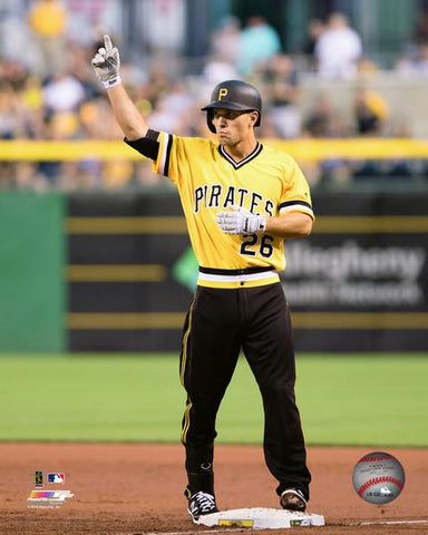Adam Frazier Pittsburgh Pirates Pointing Unsigned 8x10 Photo