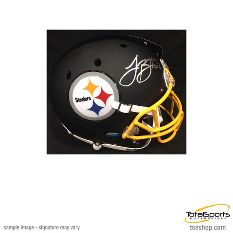 Le'Veon Bell Autographed Black Custom Replica SCHUTT Helmet with Matte Finish, Yellow Facemask