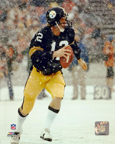 PRE-SALE: Terry Bradshaw Signed Scrambling in Snow 16x20 Photo