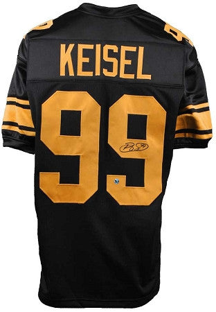 Brett Keisel Autographed Pittsburgh Steelers 75th Anniversary Black and Gold Custom Jersey