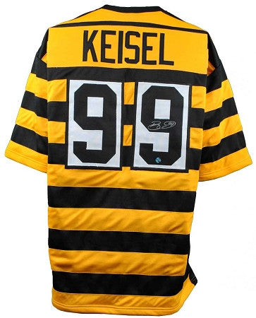 Brett Keisel Autographed Pittsburgh Steelers Bumble Bee Custom Jersey