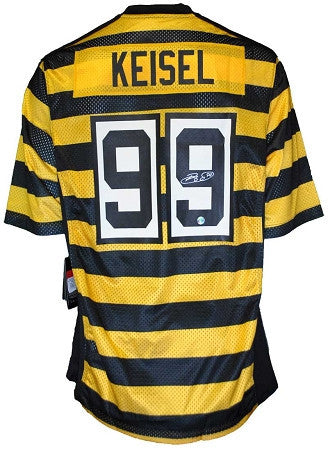 Brett Keisel Autographed AUTHENTIC Pittsburgh Steelers Bumble Bee Jersey
