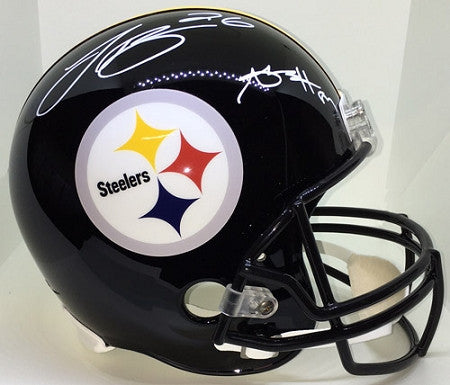 Antonio Brown and Le'Veon Bell Autographed Replica Helmet