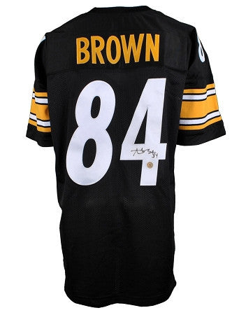 Antonio Brown Autographed Pittsburgh Steelers Black Custom Jersey