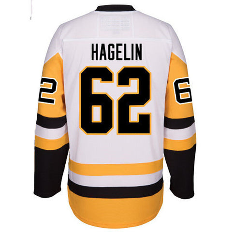 Carl Hagelin Autographed White Pittsburgh Penguins Jersey