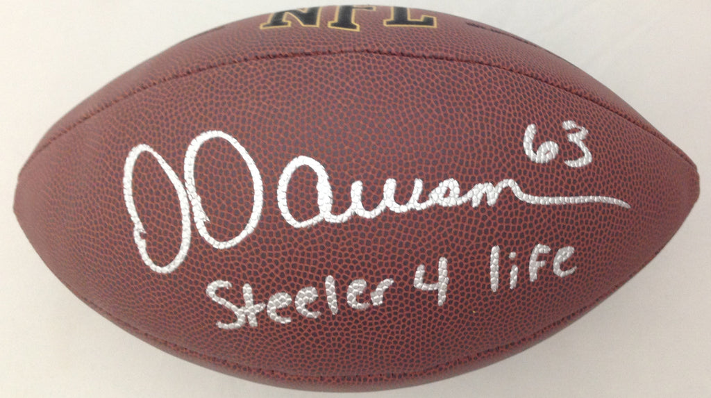 Dermontti Dawson Autographed Replica Football inscribed Steeler 4 Life