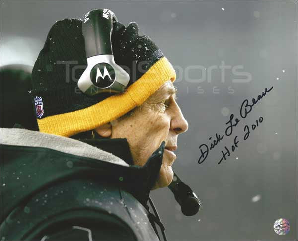 Dick LeBeau Signed Snow 16x20 Photo inscribed HOF 2010