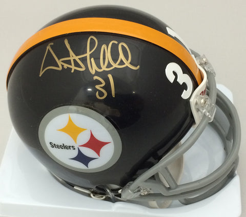 a5e0b7bc Donnie Shell Autographed Pittsburgh Steelers Black Throwback Mini Helmet