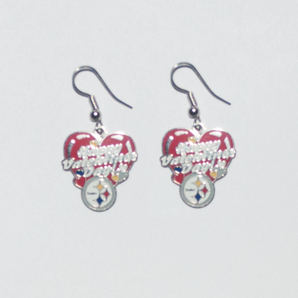 Steelers Valentine Day Earrings