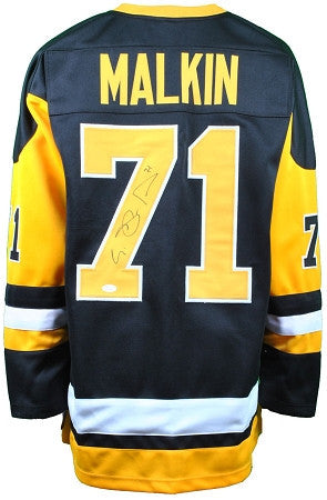 Evgeni Malkin Autographed Pittsburgh Penguins Alternate Black/Gold Hockey Custom Jersey