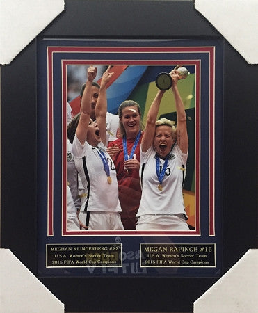 Meghan Klingenberg And Megan Rapinoe FRAMED 8x10 Photo - Unsigned