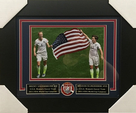 Meghan Klingenberg And Becky Sauerbrunn FRAMED 8x10 Photo - Unsigned